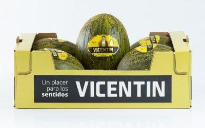 Nueva caja de melón Vicentín
