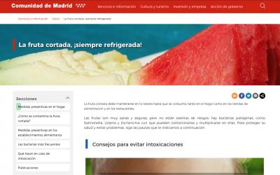 Consejos para evitar intoxicaciones con fruta de la Comunidad de Madrid